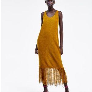 ZARA SIZE S - Rustic Fringe Dress